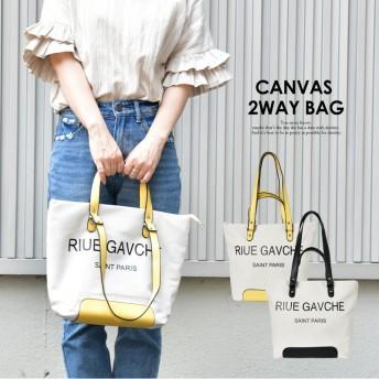 キャンバス 2way トートバッグ ロゴ 布 帆布 a4 軽い 軽量 小さめ 大きめ 肩掛け 斜めがけ ブランド カジュアル ビジネス おすすめ かわいい レディース