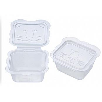 【Richell 利其爾】卡通型離乳食物分裝盒/離乳食保存容器(150ml/6入)-MiffyBaby