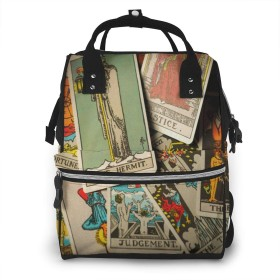 マザーズバッグ リュック 大容量 ポケット付き 多機能 ベビー用品収納 バッグ 通勤 旅行 出産準備 出産祝いなど用 タロットカード30