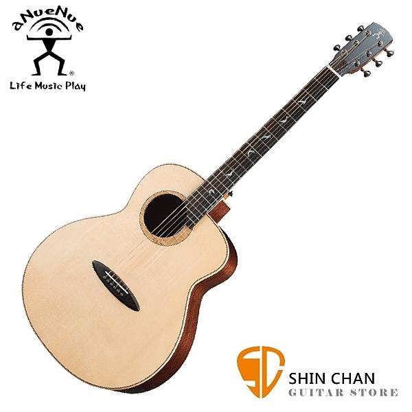 aNueNue LB200 雲杉木面板+玫瑰木側背板 41吋 全單板 民謠吉他 / 鳥吉他 / 木吉他 附多樣配件