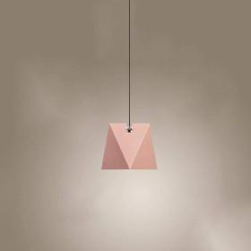 照明 北欧の創造的な調整可能なアートシャンデリア幾何錬鉄製のシャンデリアの色のレストランシングルヘッドシーリングランプ (Color : Pink)