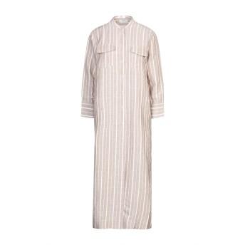 《セール開催中》ALPHA STUDIO レディース 7分丈ワンピース・ドレス ベージュ 40 リネン 100%
