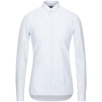 《セール開催中》AGLINI メンズ シャツ ホワイト 39 コットン 100%