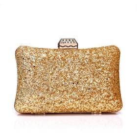 Elegent ヨーロッパとアメリカではイブニングバッグの女性は金色の袋のドレスの宴会のイブニングバッグクラッチスパンコール20  6  12CM Charming