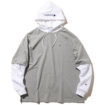 ビームス メン Champion × BEAMS / 別注 レイヤード Tシャツ メンズ OXFORD_GRAY M 【BEAMS MEN】