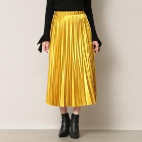 EPOCA THE SHOP(エポカザショップ)/【EPOCA THE SHOP】カラーサテンプリーツスカート