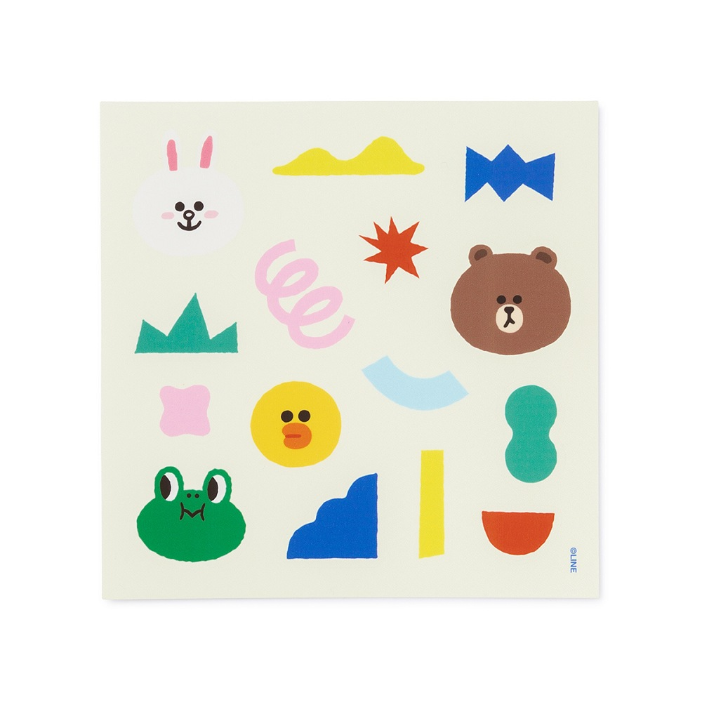 BROWN & FRIENDS 裝飾貼紙
