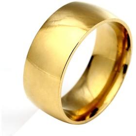 Dalyvia(ダリビア)指輪 メンズ タングステン リング 男女兼用 耐久性に優れた 金属感 高級 平打ち 幅8mm 研磨 人気 シンプル アクセサリー