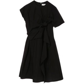 AKIRANAKA アキラナカ ドレープ結びデザインワンピース Drape knot dress BK ワンピース,BLACK