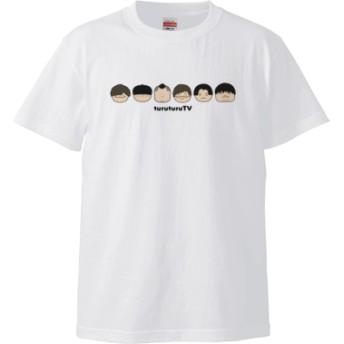 つるつるメンバー顔Tシャツ(カラー : ホワイト, サイズ : L)