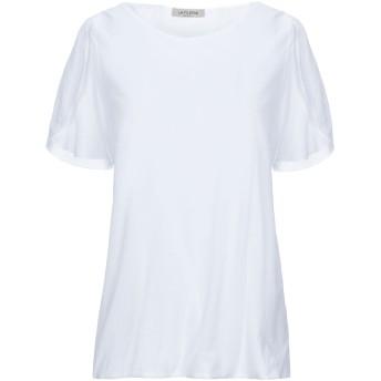 《セール開催中》LA FILERIA レディース T シャツ ホワイト 44 コットン 70% / ナイロン 30%