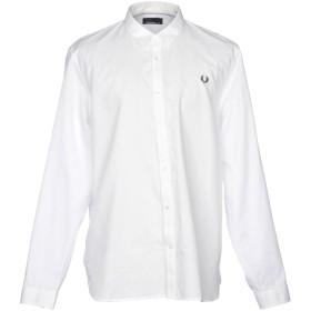 《セール開催中》FRED PERRY メンズ シャツ ホワイト XXL コットン 100%