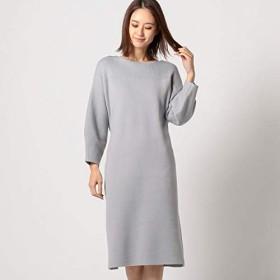 ミューズ リファインド クローズ(MEW'S REFINED CLOTHES) ボートネックニットワンピース【ライトグレー/M】