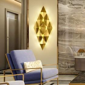 便利 北欧の現代のミニマリストの寝室のベッドサイドランプウォールランプ屋内トイレ金色の金属シェード9光源通路、階段、廊下の壁ランプ67  28センチメートル デコレーション