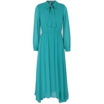 《セール開催中》SOUVENIR レディース 7分丈ワンピース・ドレス グリーン XS ポリエステル 100%