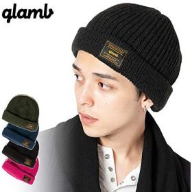 glamb(グラム)Phillip knit cap メンズ ニットキャップ ストリート BLACK FREE