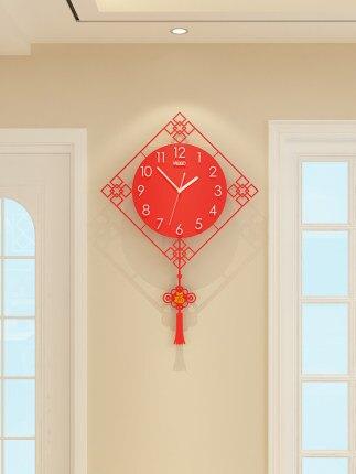 掛鐘 中式表家用客廳鐘錶掛鐘創意時尚時鐘現代大氣掛表簡約藝術中國風『TZ544』