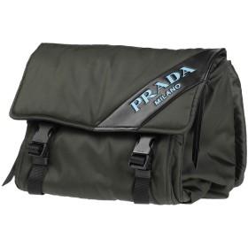 《セール開催中》PRADA レディース バックパック&ヒップバッグ ミリタリーグリーン 紡績繊維 / 革