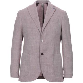 《セール開催中》GIOVANNI SCARANO メンズ テーラードジャケット ディープパープル 48 ウール 100%