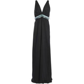 《セール開催中》L' AUTRE CHOSE レディース ロングワンピース&ドレス ブラック 42 コットン 95% / ポリウレタン 5%