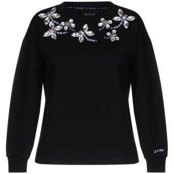 《セール開催中》JUN & JULI レディース スウェットシャツ ブラック S コットン 100%