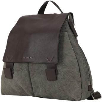 《セール開催中》ORCIANI メンズ バックパック&ヒップバッグ ダークブラウン 紡績繊維 / 革