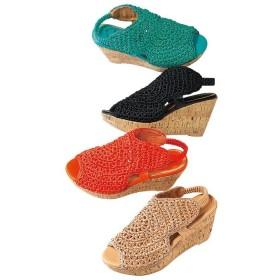 Ranan 手編みウェッジサンダル ベージュ 25.0cm レディース 5,000円(税抜)以上購入で送料無料 サンダル 夏 レディースファッション アパレル 通販 大きいサイズ コーデ 安い おしゃれ お洒落 20代 30代 40代 50代 女性 靴 シューズ
