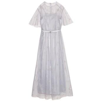 ファーファー マリンモチーフ刺繍ドレス レディース GRY F 【FURFUR】