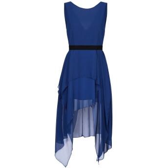 《セール開催中》TRY ME レディース ミニワンピース&ドレス ブルー 44 ポリエステル 100%