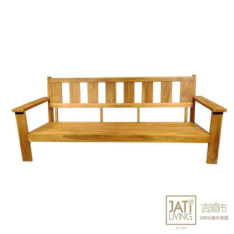 吉迪市JatiLiving |柚木典雅造型沙發/三人椅(不含墊) ETLI006A