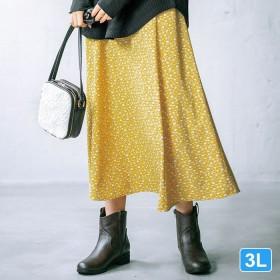 GeeRA 【3L】ソフトマーメイドシルエットスカート 3L レディース 5,000円(税抜)以上購入で送料無料 フレアスカート 夏 レディースファッション アパレル 通販 大きいサイズ コーデ 安い おしゃれ お洒落 20代 30代 40代 50代 女性 スカート