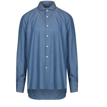 《セール開催中》BORSA メンズ シャツ ブルー 45 コットン 100%