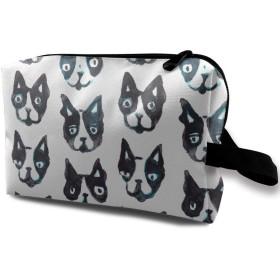 犬の赤ちゃん 模様 メイクポーチ 化粧 コスメバッグ 小物入れ 収納バッグ 便利 大容量 収納ケース 旅行用 レディース用