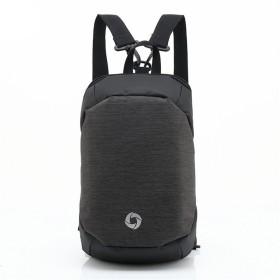メンズバックパック デュアルユースレジャー旅行バックパックチェストパック防水オックスフォード生地の写真撮影男性バックパックビジネストラベル 旅行に適しています (Color : Black)