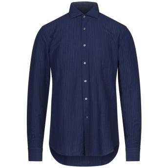 《セール開催中》GHIRARDELLI メンズ シャツ ブルー 39 コットン 80% / リネン 20%