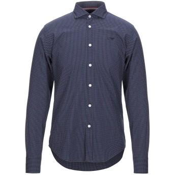 《セール開催中》ARMANI JEANS メンズ シャツ ダークブルー S コットン 100%