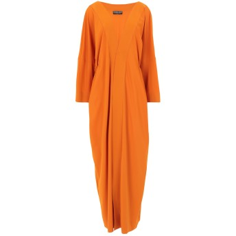《セール開催中》CHIARA BONI LA PETITE ROBE レディース ロングワンピース&ドレス オレンジ 40 ナイロン 72% / ポリウレタン 28%