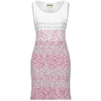 《セール開催中》MUST レディース ミニワンピース&ドレス ホワイト S アクリル 50% / コットン 20% / ポリウレタン 20% / Lurex 10%