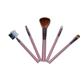 SENECIOョ Presents Steel Paris Make Up 5 Brush Set Peach Professional Pack