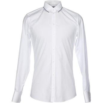 《セール開催中》DOLCE & GABBANA メンズ シャツ ホワイト 38 コットン 98% / シルク 2%