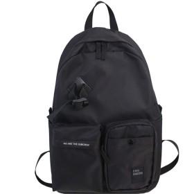 品質カジュアルデイパック、マルチポケットデザイン高校生スクールバッグ、ハイキングキャンプ旅行アウトドアユニセックスリュックサックデイパック( 36センチメートル44  13) (Color : Black)
