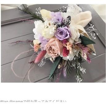 トス用・ミニ花束(ピンクパープル)