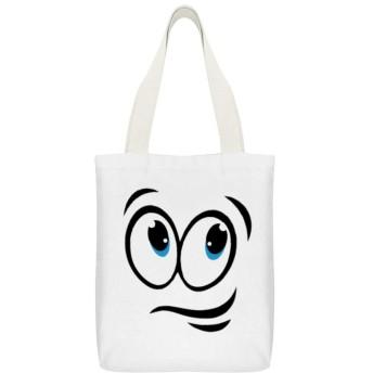 コミックスマイリーフェイスおかしい 【実用性抜群】このトートバッグは学生、社会人、通勤、通学、外出、ビジネス、国内、海外旅行(トラベル)、レジャーに幅広くお使いいただけます。また、買い物に行く時、この帆布バッグも役に立って、エコバッグ、ショッピングバッグとして循環使用できます。