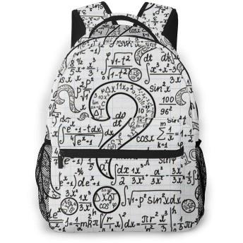 バックパック 数学の方程式 疑問 Pcリュック ビジネスリュック バッグ 防水バックパック 多機能 通学 出張 旅行用デイパック
