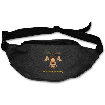 Don 't Worry、be Monkey Unisex Outdoors Fanny Pack Bag Belt Bag Sport Waist Pack