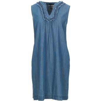 《セール開催中》SEMICOUTURE レディース ミニワンピース&ドレス ブルー S コットン 100%