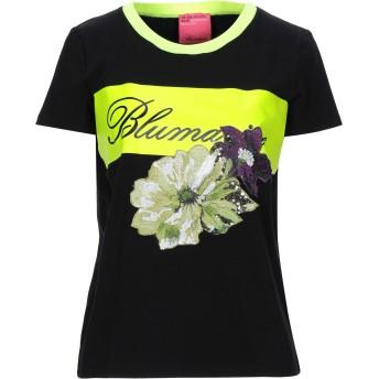 《セール開催中》BLUMARINE レディース T シャツ ブラック 40 コットン 90% / ポリウレタン 10% / ポリエステル