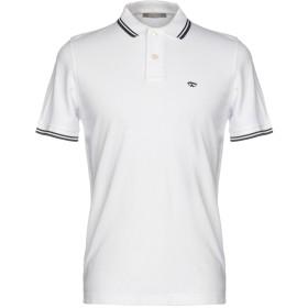 《セール開催中》ANDREA FENZI メンズ ポロシャツ ホワイト 54 コットン 100%