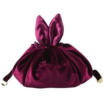 XIXI ベルベットトラベル巾着コスメティックバッグ、バッグ、怠惰な化粧品袋、ウォッシュバッグ、化粧ポーチ女性少女収納に便利なキャリングクイックストレージ 高品質ハンギングトイレタリーバッグ男性&女性は (Color : Red wine)