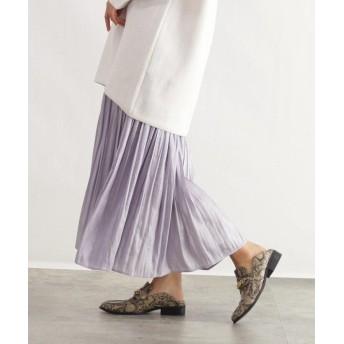 OZOC(オゾック) [洗える]オーロラサテンマキシスカート